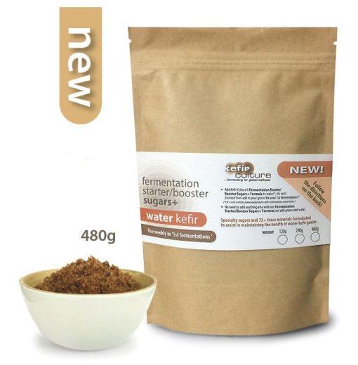 Water Kefir Fermentation Starter Booster Sugars 480g